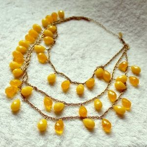 Vintage Yellow Layered Necklace